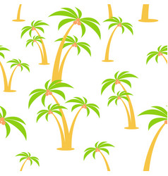 Cartoon flat seamless pattern palm trees vector