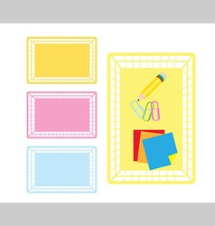 classroom object basket vector image vector image