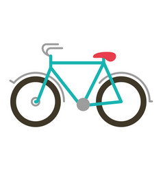 Color silhouette with tourist bicycle icon vector