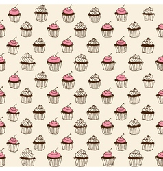 cupcake seamless vector image vector image