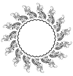 decorative round ornament vector image vector image