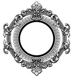 Floral label frame 6 vector image vector image