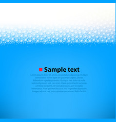 foamy water bright background vector image vector image