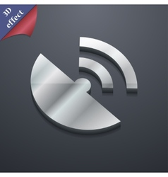 Gps icon symbol 3d style trendy modern design with vector