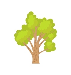 Green tree icon cartoon style vector image