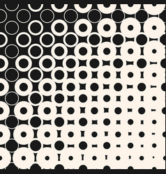 halftone seamless pattern with circles dots vector image