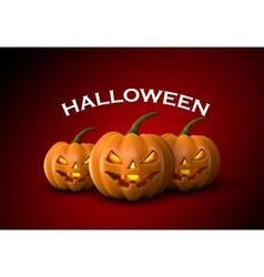 Halloween Pumpkins Jack Lanterns vector image