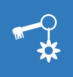 Icon key and key fob vector