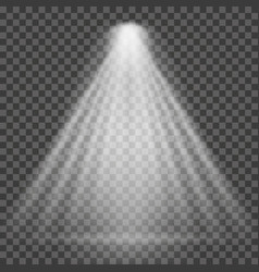light beam on transparent background bright vector image vector image