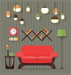 Living room design vector