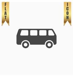 Minibus flat icon vector