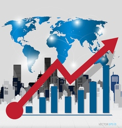 Modern design graph Business graph to success with vector image
