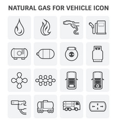 natural gas icon vector image vector image