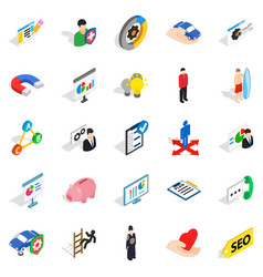 new workforce icons set isometric style vector image vector image