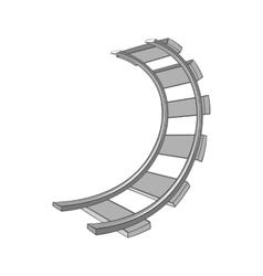 Railroad icon black monochrome style vector image vector image
