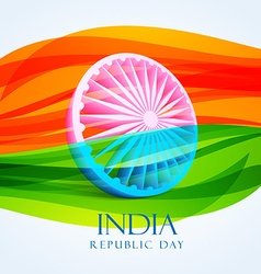 Republic day indian flag vector