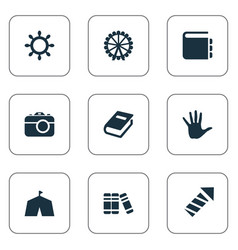 Set of simple child icons vector