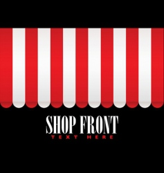 Shop front awning vector