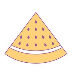 Slice watermelon fruit fresh icon vector