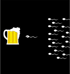 Sperm and beer vector image vector image