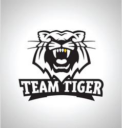 Team tiger sports logo icon vector