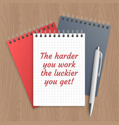 Text the harder you work vector
