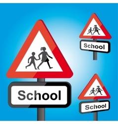 Traffic school roadsign vector image