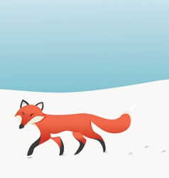 Walking Fox vector image vector image