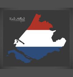 Zuid-holland netherlands map vector