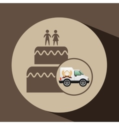 Transport of wedding cake vector
