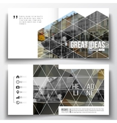 Set of annual report business templates for vector