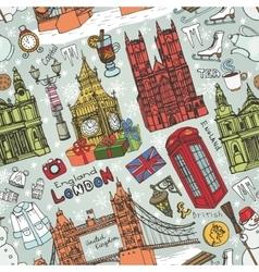 London winter landmarks seamless patterncolored vector