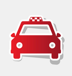 Taxi sign   new year reddish vector