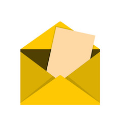Envelope icon flat style vector