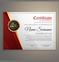 Beautiful certificate template design with best vector