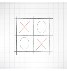 Sketch tic-tac-toe icon made in modern flat design vector