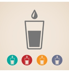Glass of water icons vector