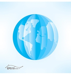 globe origami 3d paper vector image