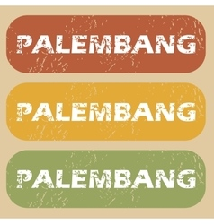 Vintage palembang stamp set vector
