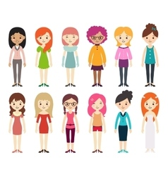 Collection of different women vector image
