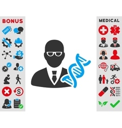 Genetic engineer icon vector