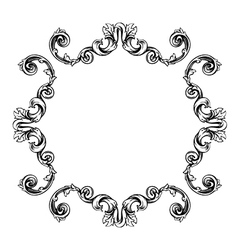 Floral label frame 7 vector