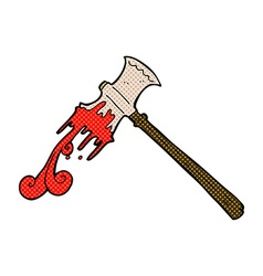 Comic cartoon slayer axe vector