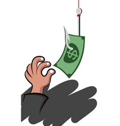 Hand picking a money vector