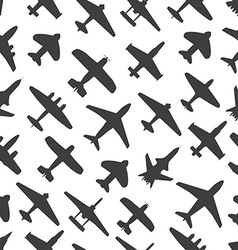 Transport and navy airplanes and jets seamless vector image