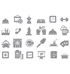 Entertainment gray icons set vector
