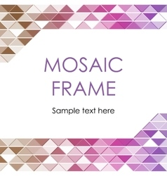 Triangular mosaic frame vector