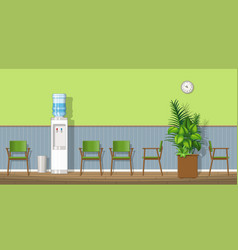 a waiting room with chairs vector image vector image