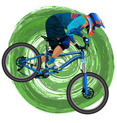 an image of a cyclist on a mountain bike vector image