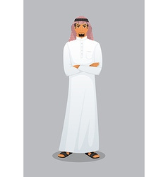 Arabic man character image vector image vector image